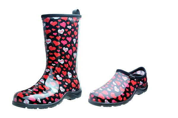 sloggers, heart health, valentine's day, waterproof boots, waterproof shoes, sloggers for life, made in the usa, los angeles, california